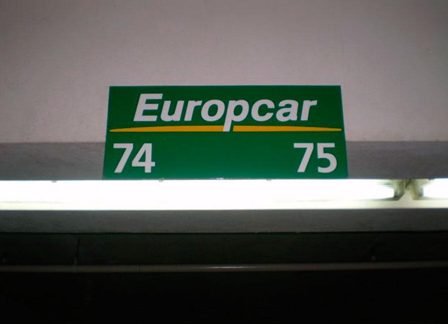 Señal europcar de mateoRotulos