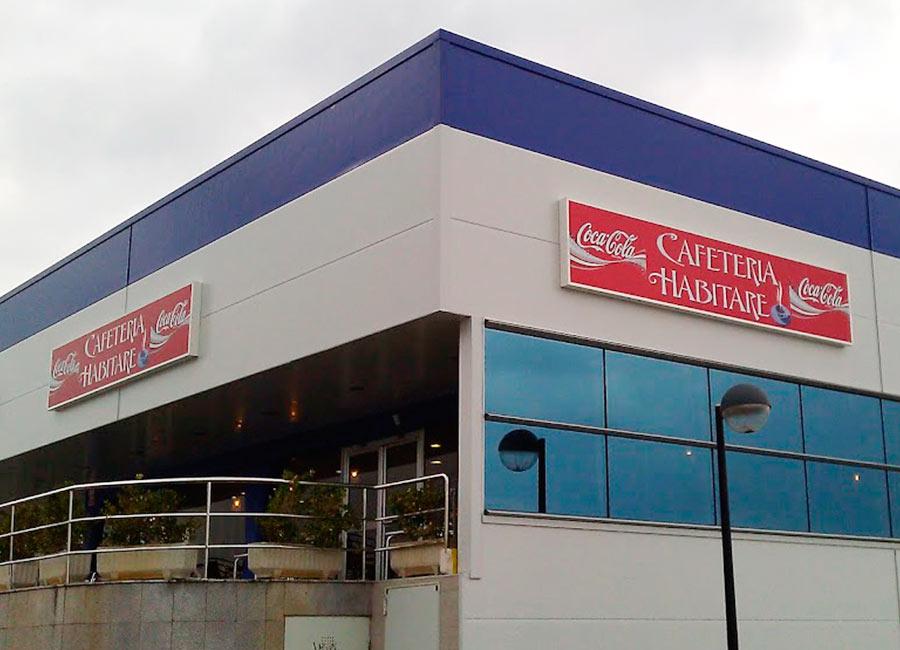 Rotulo luminoso de cafeteria en mateoRotulos