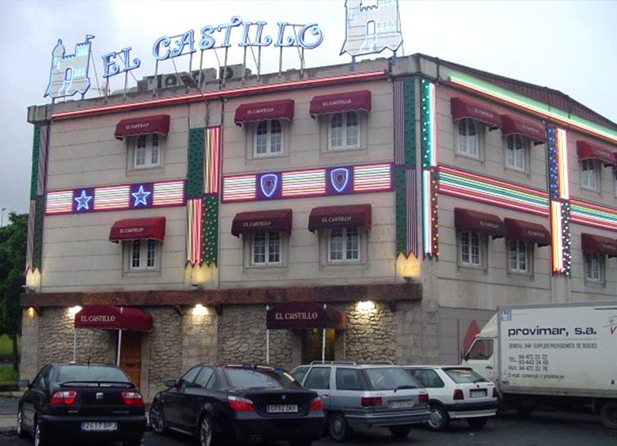 Rotulo luminoso de hotel el Castillo en mateoRotulos