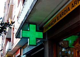Rotulo cruz farmacia de mateoRotulos