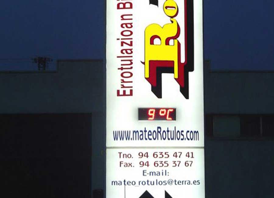 Totem electrónico de mateoRotulos